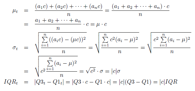 Linear Transformations Addition Multiplication