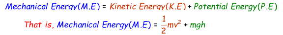 Mechanical Energy Formula